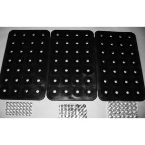 18-3/8 In. x 10-1/4 In. Black 3 Panel 84 Magnet Power Mat & 84 Assorted Power Pegs