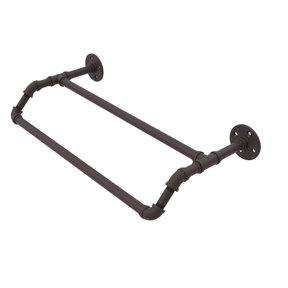 "18"" Double Towel Bar, Antique Bronze Finish"