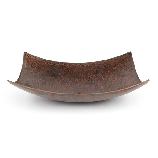 "View a Larger Image of 18"" Rectangle Modern Slope Hammered Copper Sink"