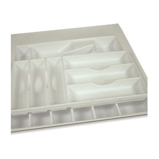 View a Larger Image of 19 X 21 inch Trimmable 2-Tier Flatware Drawer Organizer