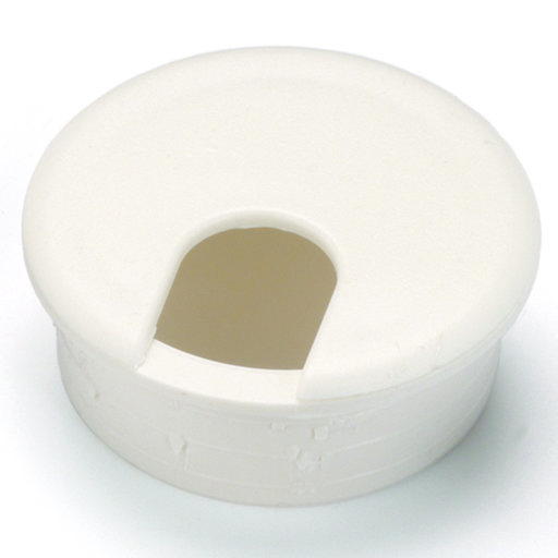 "View a Larger Image of 2-1/2"" Cable Management Plastic Grommet White"