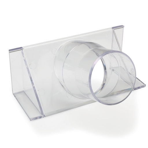 """View a Larger Image of 2-1/2"""" Clear Fence Adapter Dust Collection Fitting"""
