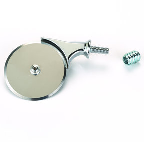 "2 1/2"" Miniature Pizza Cutter Turning Kit Chrome"