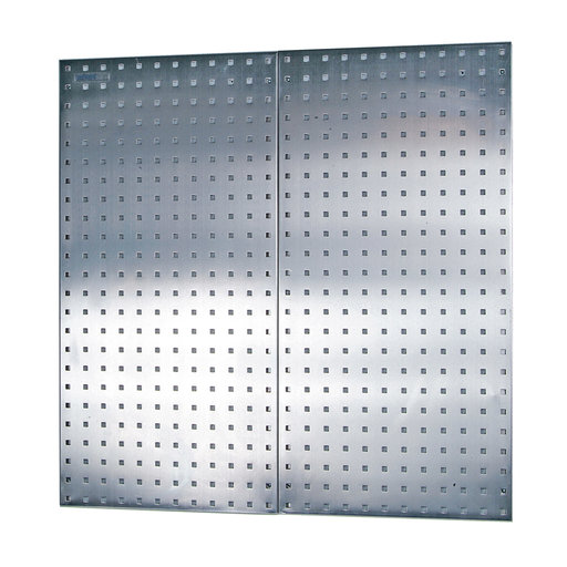 View a Larger Image of (2) 18 In. W x 36 In. H x 1/2 In. D 304 Stainless Steel Square Hole Pegboards with Wall Mounting Hardware