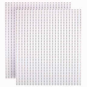 (2) 24 In. W x 48 In. H x 1/4 In. D Custom Painted Blissful White Heavy Duty Tempered Round Hole Pegboards
