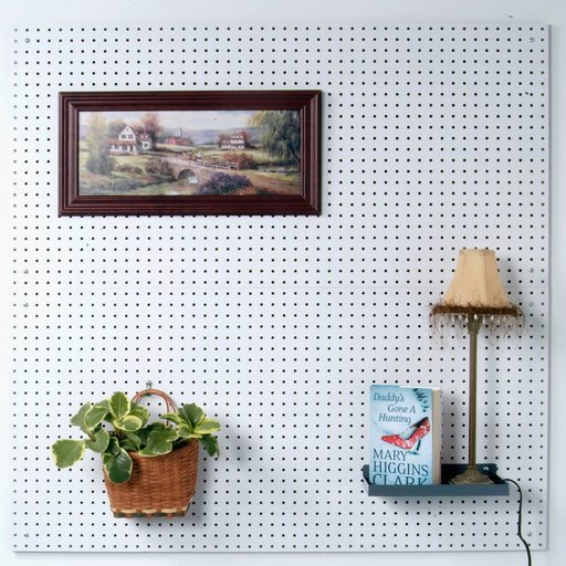 View a Larger Image of (2) 24 In. W x 48 In. H x 1/4 In. D Custom Painted Blissful White Heavy Duty Tempered Round Hole Pegboards