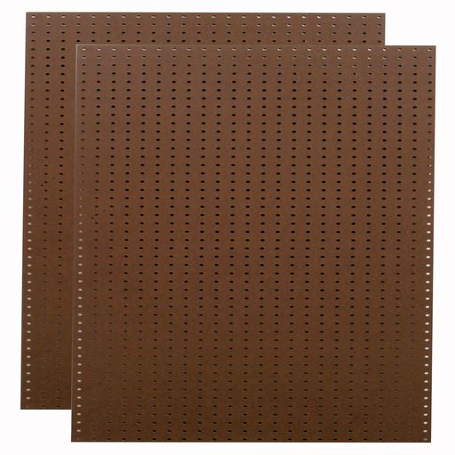 View a Larger Image of (2) 24 In. W x 48 In. H x 1/4 In. D Heavy Duty Brown Commercial Grade Tempered Round Hole Pegboards
