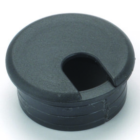 "2"" Cable Management Plastic Grommet Black"