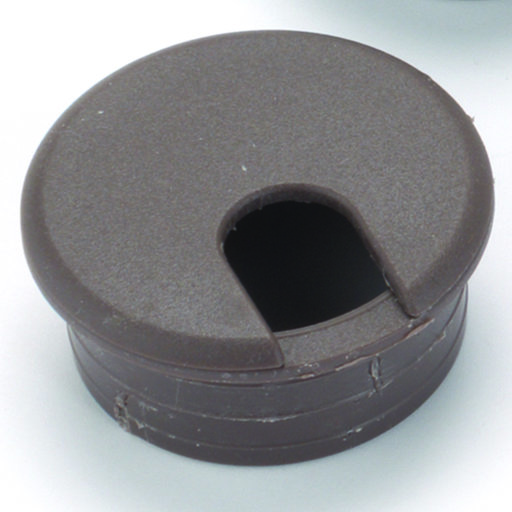 "View a Larger Image of 2"" Cable Management Plastic Grommet, Brown"
