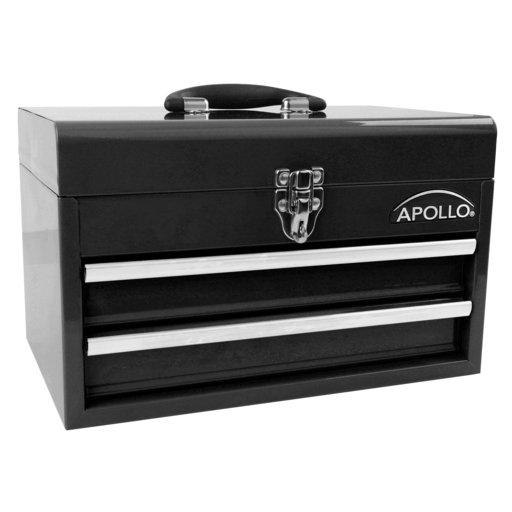 View a Larger Image of 2-Drawer Steel Chest Black