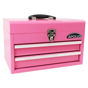 2-Drawer Steel Chest Pink