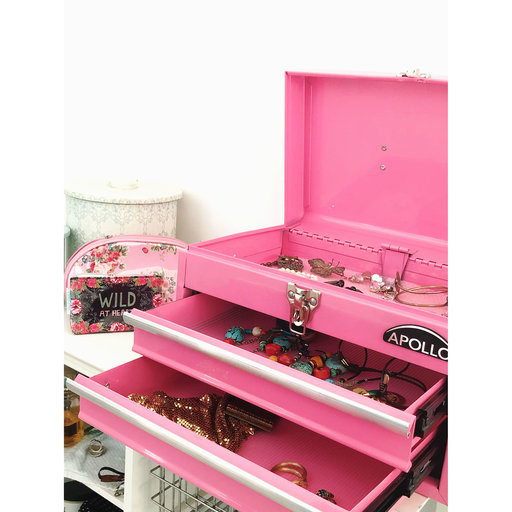 View a Larger Image of 2-Drawer Steel Chest Pink