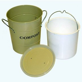 2-N-1 Kitchen Compost Bucket, Oatmeal, Model CPBS01