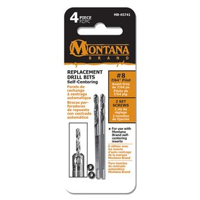 "2-Piece 7/64"" Replacement Self-Centering Pilot Drill Bits"