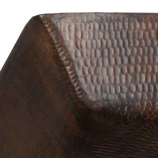 """View a Larger Image of 20"""" Rectangle Vessel Hammered Copper Sink"""