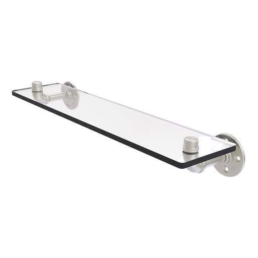 "View a Larger Image of  22"" Glass Shelf, Satin Nickel Finish"