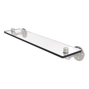 "22"" Glass Shelf, Satin Nickel Finish"