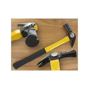 22oz Checker Face Framing Hammer w/Fiberglass Handle & Magnetic Nail Holder - Dia Dogyu