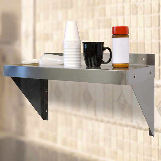 "View a Larger Image of 24"" Stainless Steel Shelf"