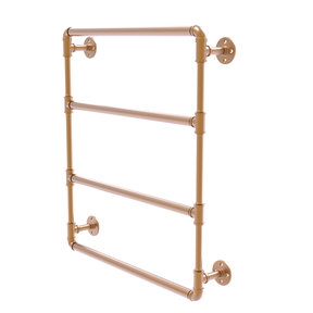 "24"" Wall Mounted Ladder Towel Bar, Brushed Bronze Finish"