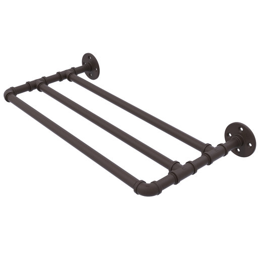 "View a Larger Image of  24"" Wall Mounted Towel Shelf, Oil Rubbed Bronze Finish"