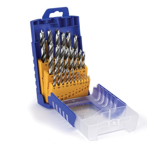 View a Larger Image of 25-Piece Metric Chrome-Vanadium Steel Brad Point Drill Index