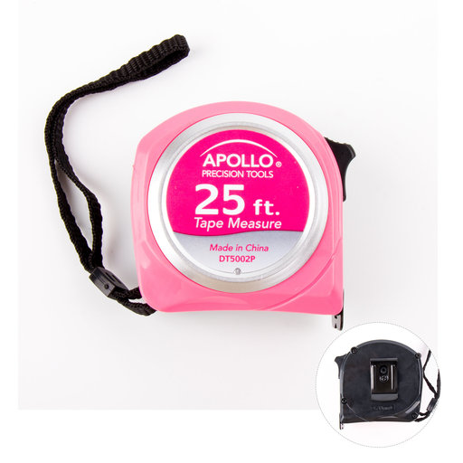 View a Larger Image of 25ft. Tape Measure - Pink