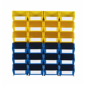 26pc. Wall Storage Unit - Yellow & Blue