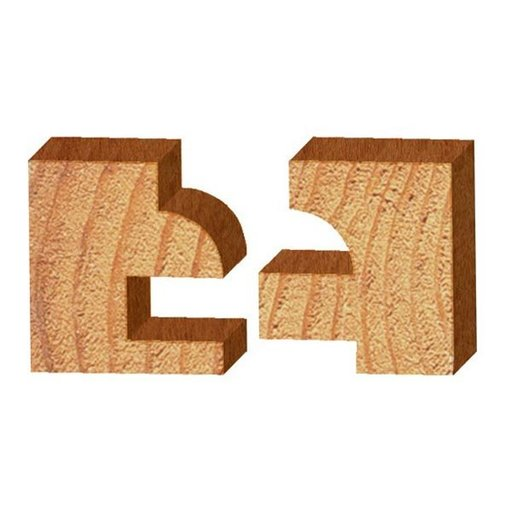 """View a Larger Image of 2pc Round Stile And Rail Door, 1-5/8"""" OD x 1"""" CL, 1/2"""" SH, Whiteside# 6001"""