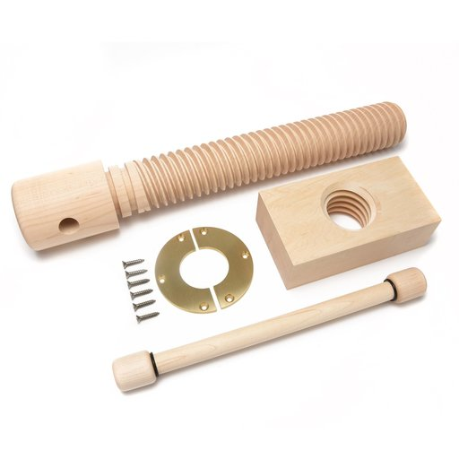 View a Larger Image of 2X Wood Vise Screw - Premium  Brushed Finish