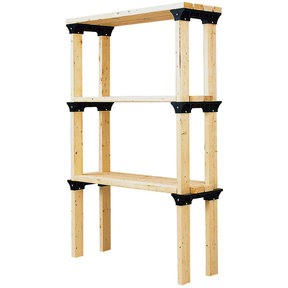 2x4basics ShelfLinks, 6-Pack - Black