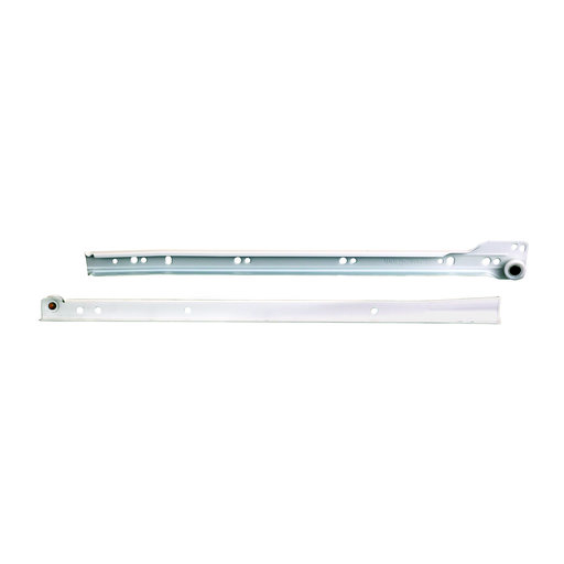 "View a Larger Image of 3/4-Extension White Epoxy Coated, Self-Close Euro Drawer Slides 16"", Pair Model KV 1805"