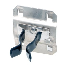 3/4 In. to 1-1/4 In. Hold Range 7/8 In. Proj., Vinyl Dipped Stainless Steel Extended Spring Clip for SS LocBoard, 3 Pack