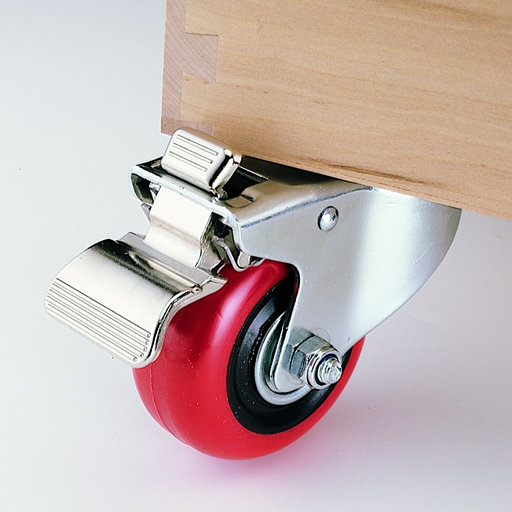 "View a Larger Image of 3"" Caster, Double Locking, Swiveling with 1/2"" Mounting Hole, 4-1/8"" Tall"