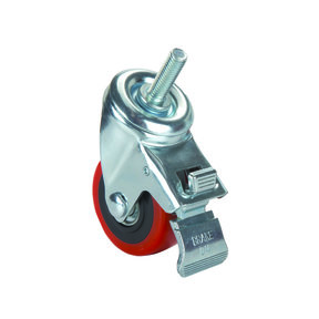 "3"" Caster Double Locking Swiveling with 3/8"" Threaded Spindle"