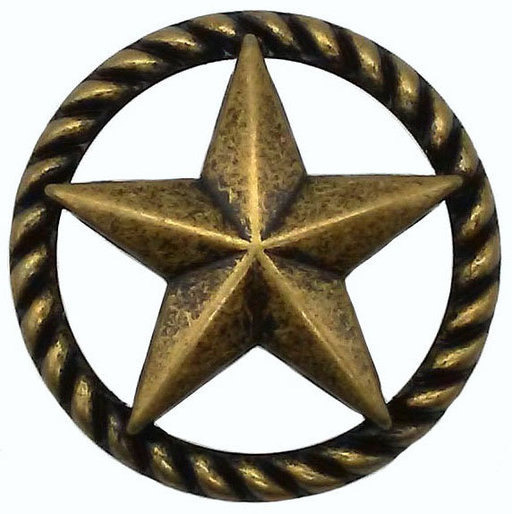 View a Larger Image of 3-D Star with Narrow Rope, Brass Oxide