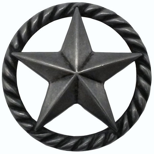 View a Larger Image of 3-D Star with Narrow Rope, Petwer Oxide