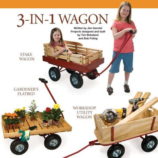 View a Larger Image of 3 - In - 1 Wagon Plan - Downloadable Plan