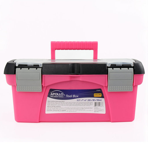 View a Larger Image of 3 Piece Tool Box - Pink