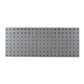 30 In. W x 12 In. H Silver Epoxy, 18 Gauge Steel Square Hole Pegboard Strip