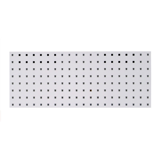 View a Larger Image of 30 In. W x 12 In. H White Epoxy, 18 Gauge Steel Square Hole Pegboard Strip