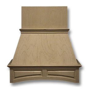 30-in. Wide Arched Raised Panel Red Oak Wood Wall-Mount Range Hood
