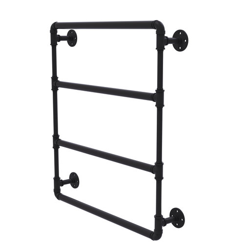 "View a Larger Image of  30"" Wall Mounted Ladder Towel Bar, Matt Black Finish"
