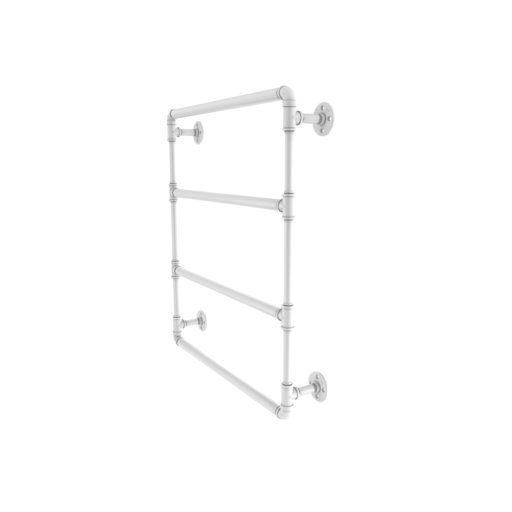 "View a Larger Image of  30"" Wall Mounted Ladder Towel Bar, Matt White Finish"