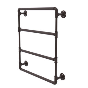 "30"" Wall Mounted Ladder Towel Bar, Oil Rubbed Bronze Finish"