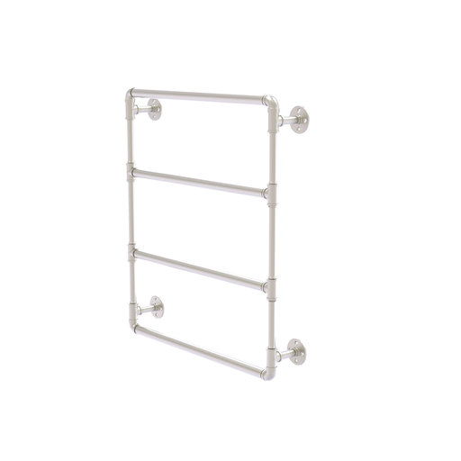 "View a Larger Image of  30"" Wall Mounted Ladder Towel Bar, Satin Nickel Finish"