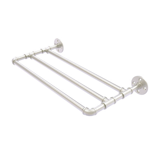 "View a Larger Image of  30"" Wall Mounted Towel Shelf, Satin Nickel Finish"