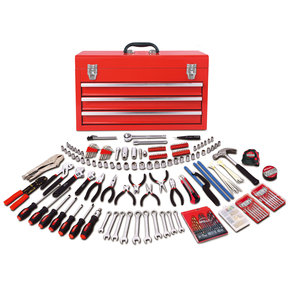 300 Piece All Purpose Mechanics Tool Kit in Three Drawer Ste