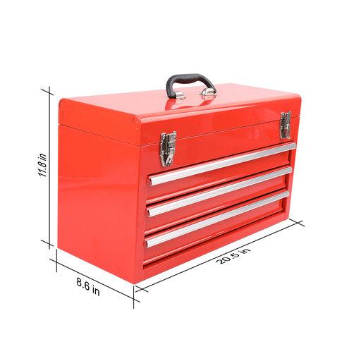 View a Larger Image of 300 Piece All Purpose Mechanics Tool Kit in Three Drawer Ste