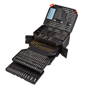 300 Piece Drill/Driver Bit Set with Storage Case